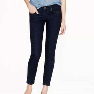 J.Crew Matchstick Ankle Dark Wash Skinny Jeans
